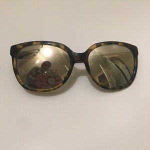 Banana Republic gold tortoise sunglasses